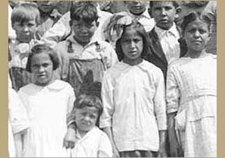 Students at the White Earth Indian boarding school